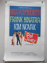 My Pal Joey, Original Linenbacked Poster, Frank Sinatra, Rita Hayworth, '57